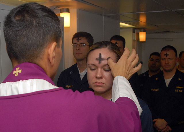 US Navy Ash Wednesday